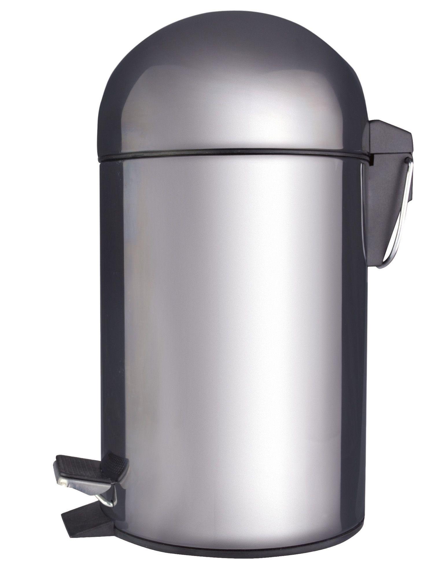 Cooke & Lewis Dome Chrome Effect Steel Bullet Pedal Bin, 3L ...
