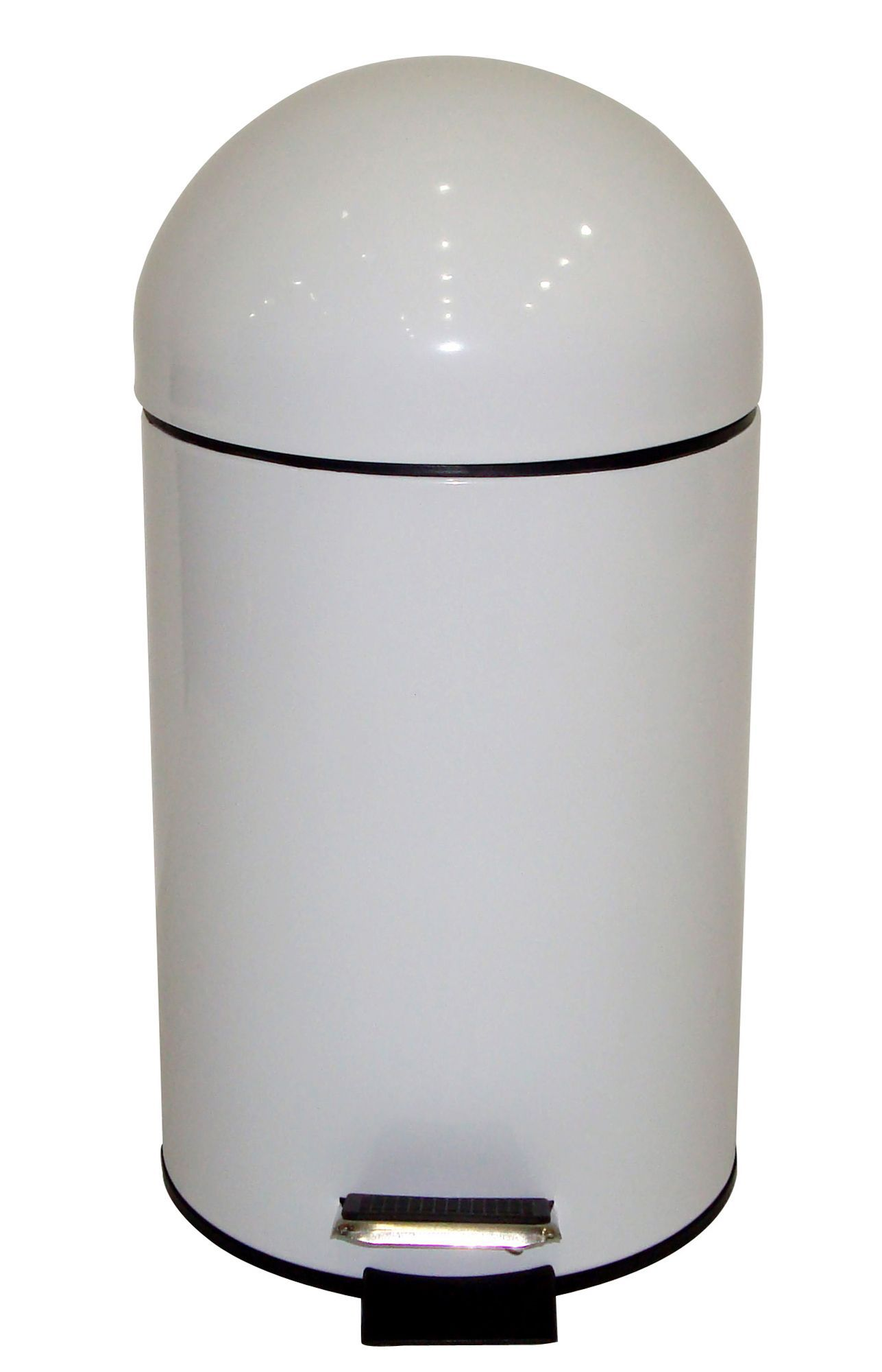 Cooke & Lewis Dome White Steel Bullet Pedal Bin, 3L | Departments ...
