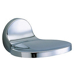 Cooke & Lewis Chrome Effect Soap Dish &