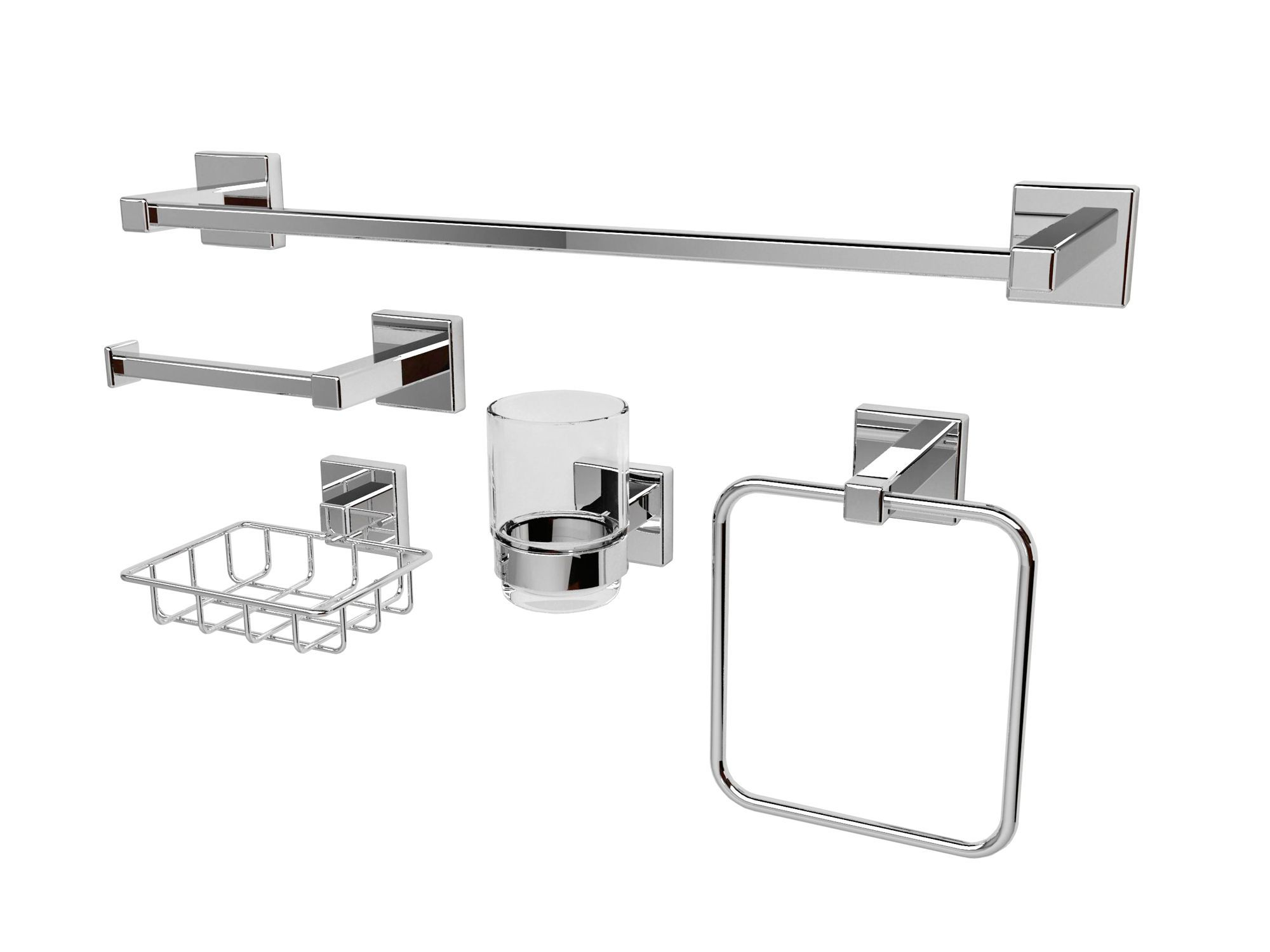 Cooke lewis intuition chrome effect glass steel for B q bathroom accessories