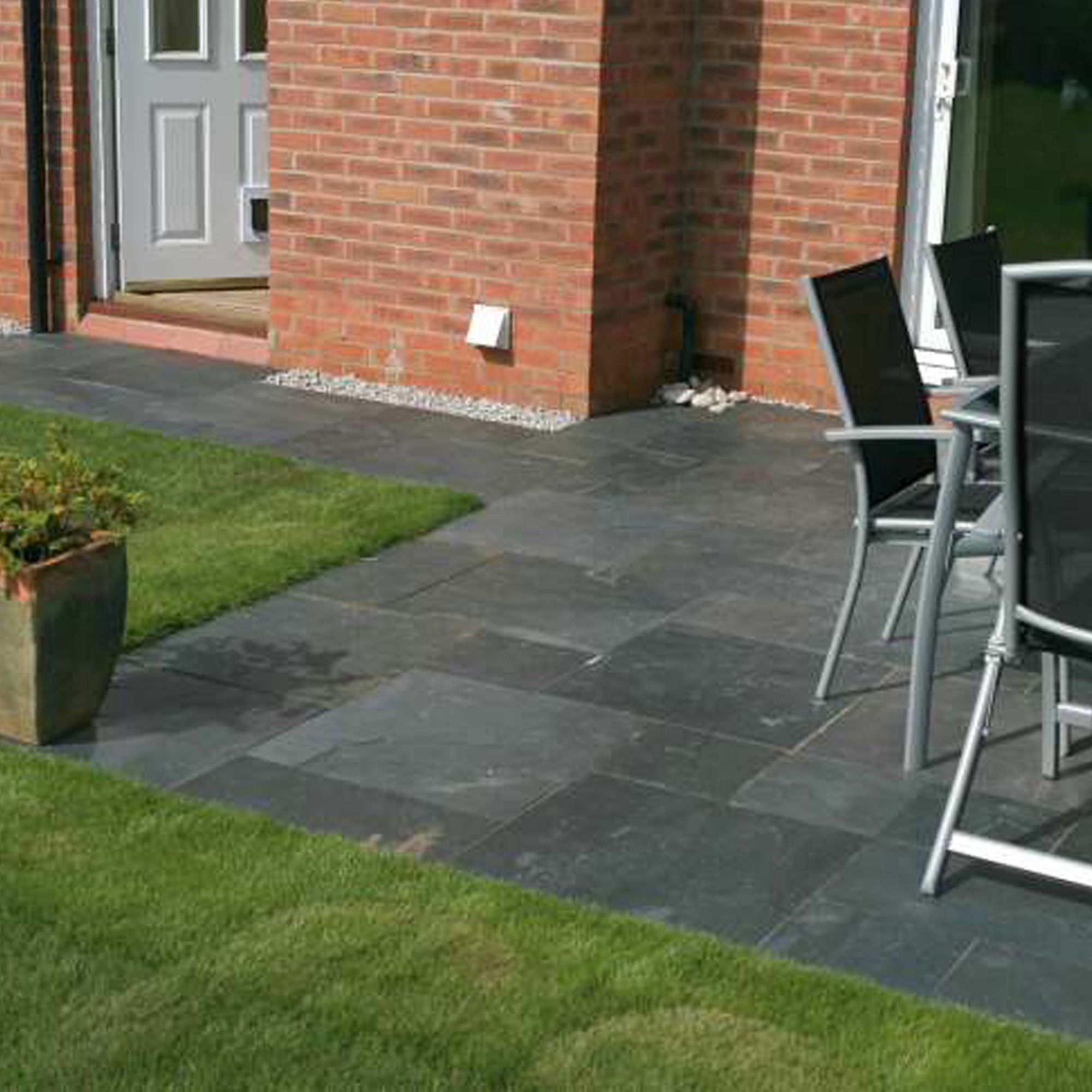 Slate Grey Natural Slate Paving Kit Departments Diy At B Amp Q