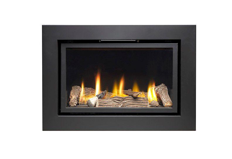 Ignite Pinnacle 600 Black Remote Control Inset Gas Fire