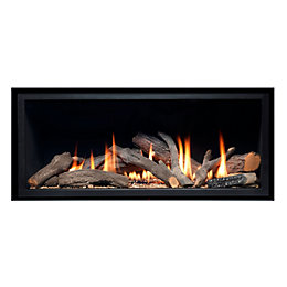 Ignite Pinnacle 860 Black Inset Gas Frameless Fire