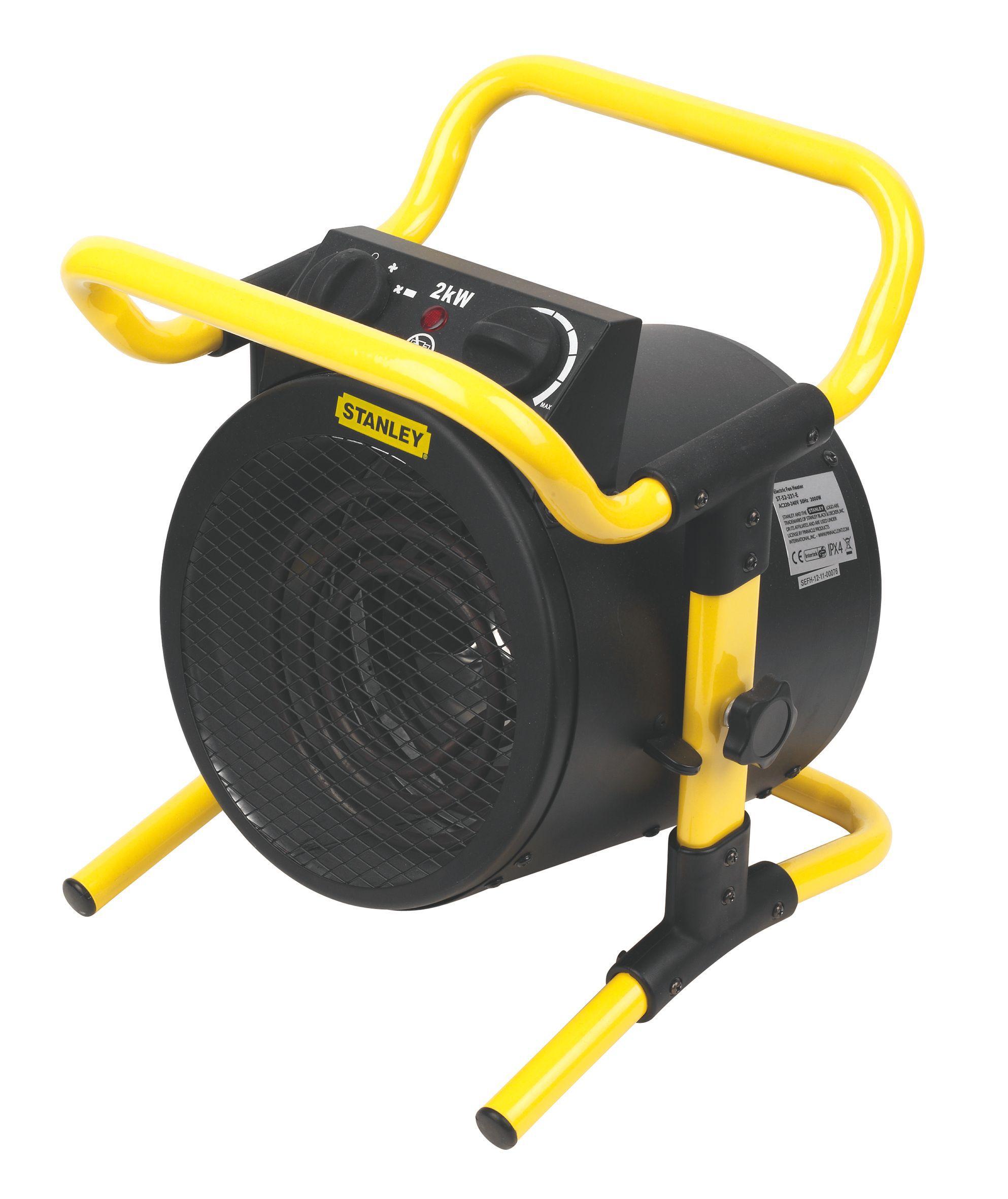 Stanley Electric 2000w Black Amp Yellow Turbo Fan Heater