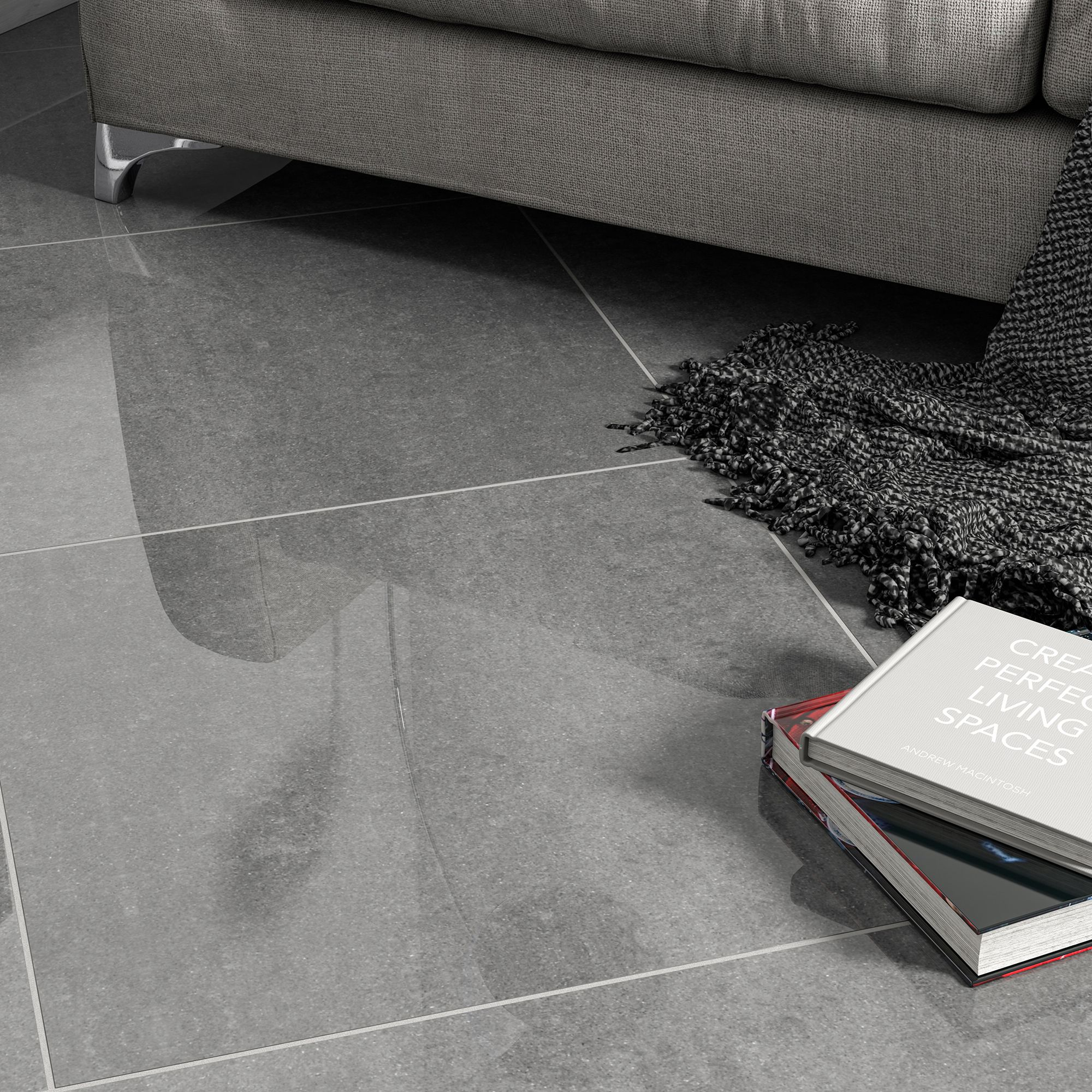 Imperiali Anthracite Porcelain Floor
