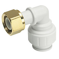 JG Speedfit Push fit Bent tap connector (Dia)15mm, Pack of 2