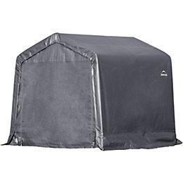 8X8 Shelterlogic Apex Polyethylene Metal Frame Shed