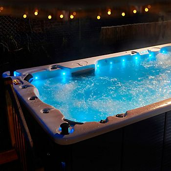 Hot tub with various seating configurations
