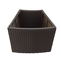 Brown Spa planter (H)580mm (L)450mm