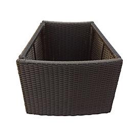 Brown Spa planter (H)580mm (L)450mm