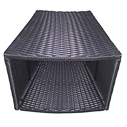 Rattan Spa side table