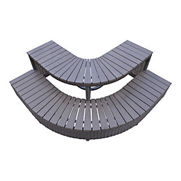 Canadian Spa Company Brown Rattan Spa corner steps