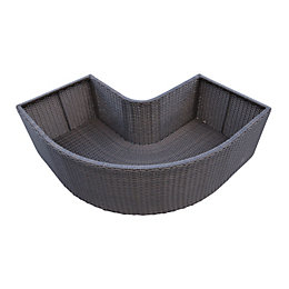 Brown Spa corner planter (H)550mm (L)430mm
