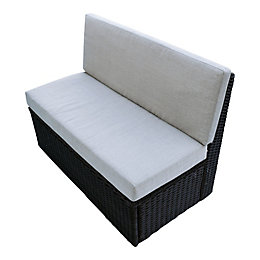 Canadian Spa Company Brown Rattan Spa loveseat