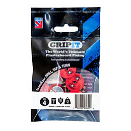 GripIt Plasterboard fixings (Dia)18mm, Pack of 4