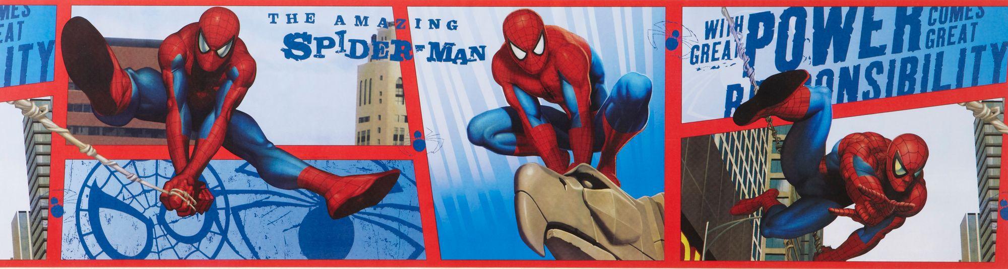 Marvel Spiderman Multicolour Border Departments Diy At B Amp Q