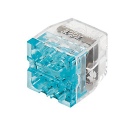 Ideal Blue 24A Push-In Wire Connector, Pack of