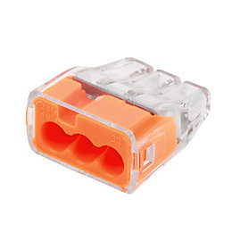 Ideal Orange 32A Push-In Wire Connector, Pack of