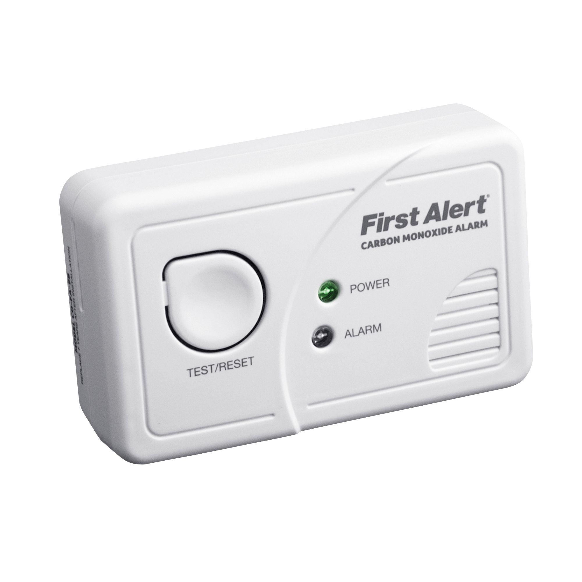 First alert led display co alarm departments diy at b q - Detector co2 domestico ...