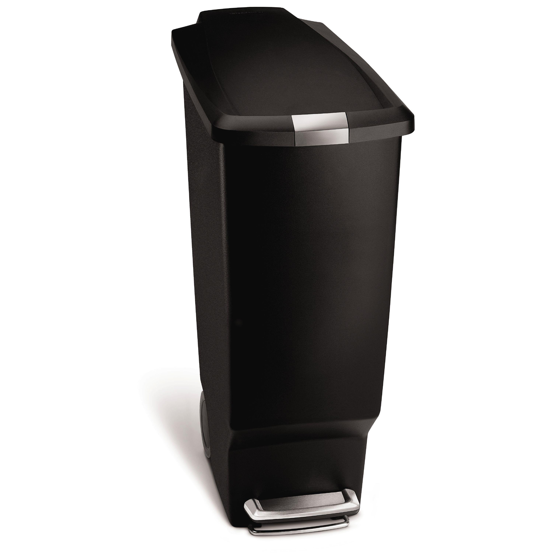 Simplehuman Black Plastic Rectangular Soft Close Slim