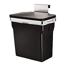 Simplehuman Black Plastic Built in rectangular bin