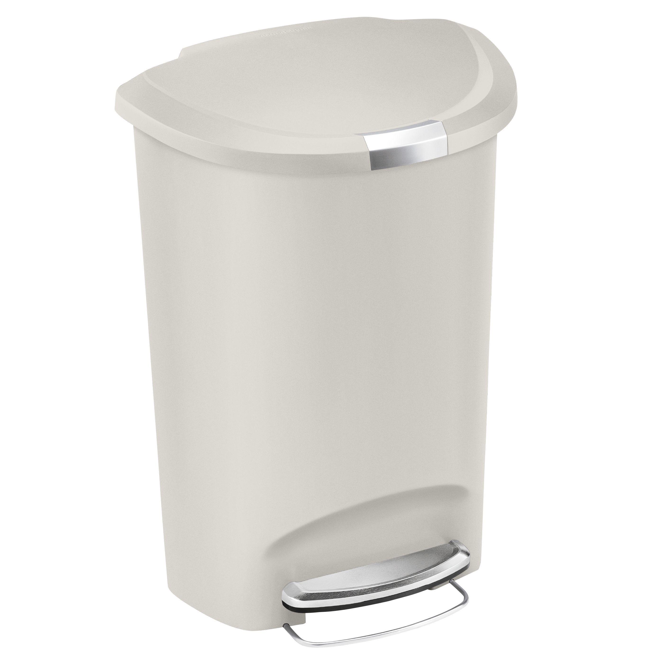 Plastic Semi Round Kitchen Bin 50l