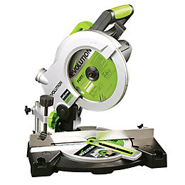 Evolution 1100W 240V 210mm Compound mitre saw FURY3B