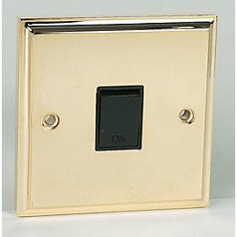 20A Single Polished Brass Effect Control Switch
