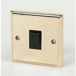 10A Single Polished Brass Effect 10AX Intermediate Switch