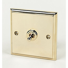 6A 2-Way Single Polished Brass Effect 6AX Switch