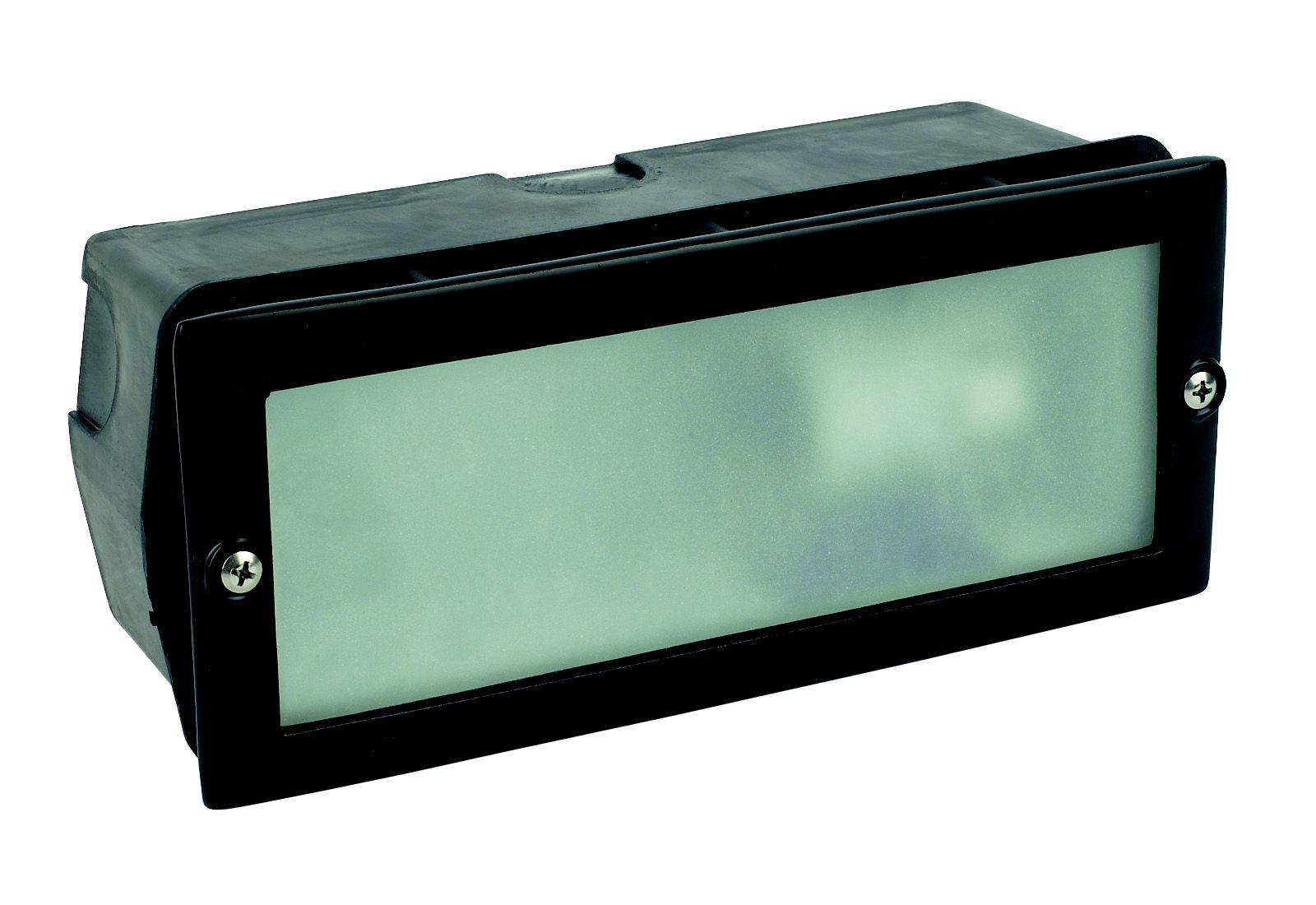 Black Mains Powered External Brick Light Departments