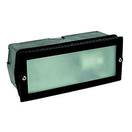 Black Mains Powered External Brick Light