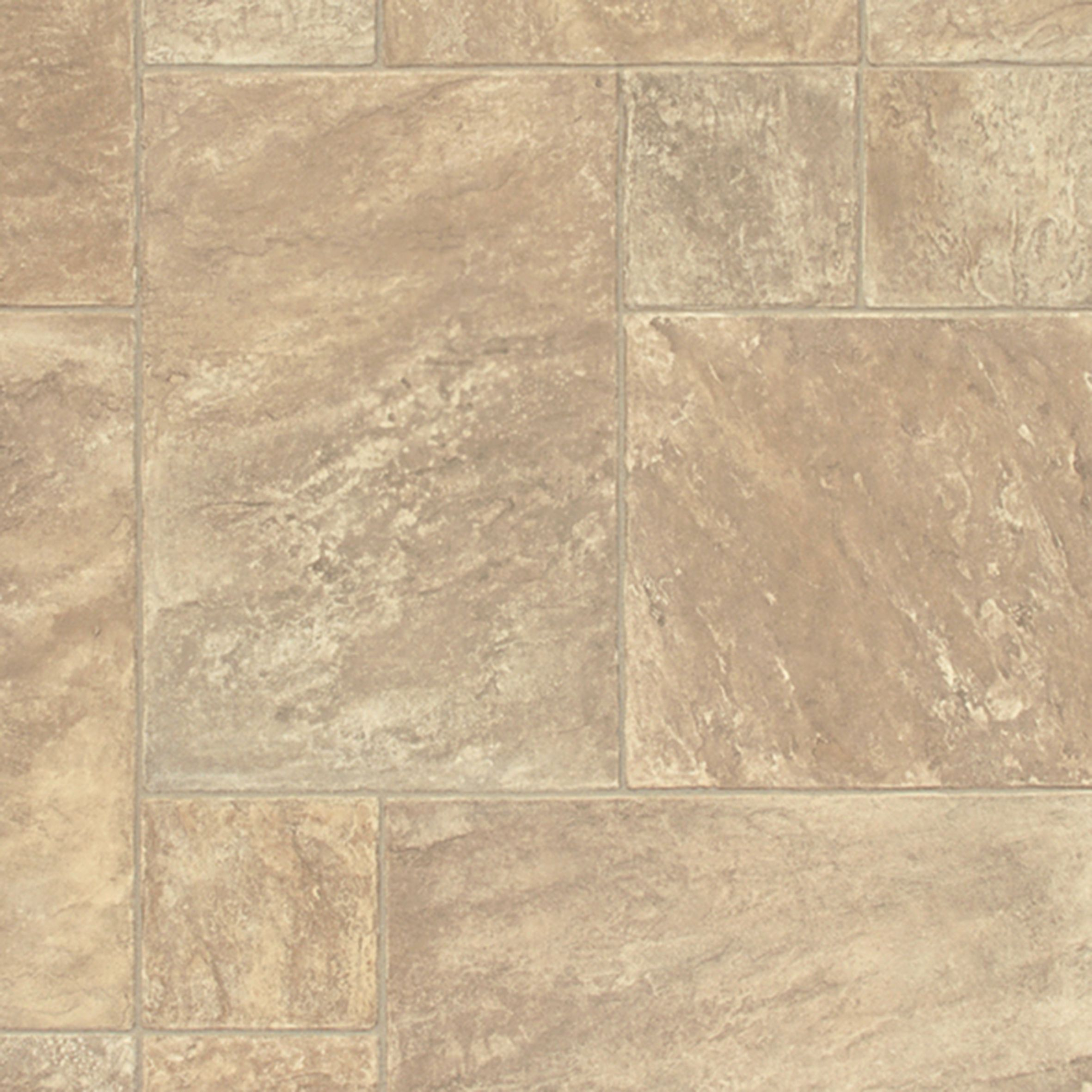 Torrezo beige stone tile effect vinyl cut to chosen length for Stone effect vinyl flooring