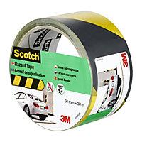 Scotch Black & yellow Marking tape (L)33m (W)50mm