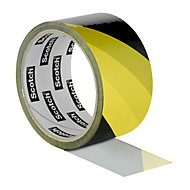 Scotch Black & yellow Marking tape (L)33m (W)50mm