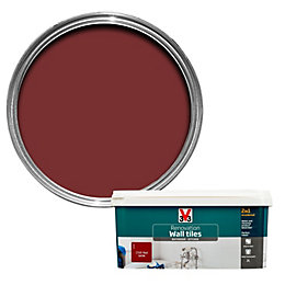 V33 Renovation Chilli Red Satin Wall Tile Paint
