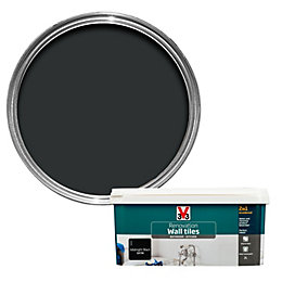 V33 Renovation Midnight black Satin Wall tile paint2L
