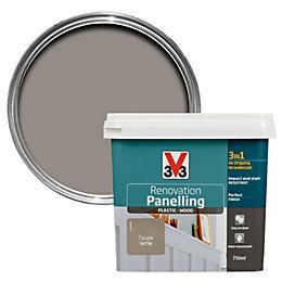 V33 Renovation Taupe Satin Panelling paint 750 ml