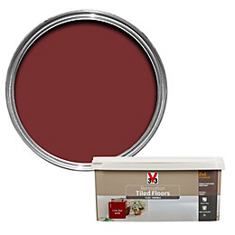 V33 Renovation Chilli red Satin Floor tile paint2L