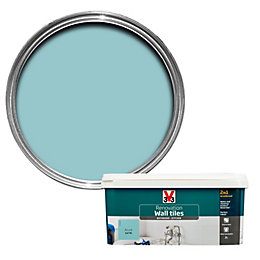 V33 Renovation Azure Satin Wall Tile Paint2L
