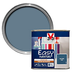 V33 Easy Blue Storm Satin Furniture Paint 500