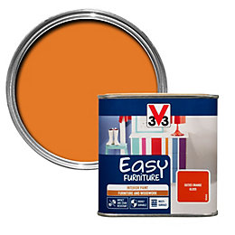V33 Easy Sixties Orange Gloss Furniture Paint 500