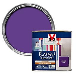 V33 Easy Ultraviolet Gloss Furniture Paint 500 ml