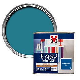 V33 Easy Tropical Turquoise Gloss Furniture Paint 500