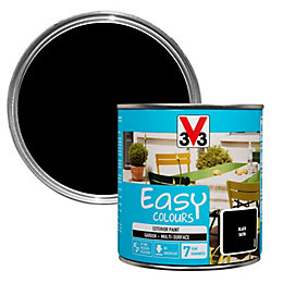 V33 Easy Black Satin Furniture Paint 500 ml