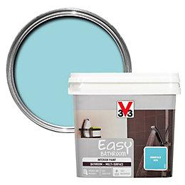 V33 Easy Summer blue Satin Bathroom paint 0.75L