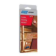 Norton 120 Grit Fine Sanding block refill, Pack of 5