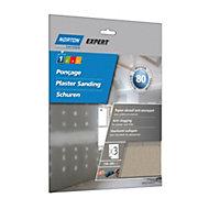 Norton 80 Grit Medium Sandpaper sheet, Pack of 3