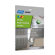 Norton 120 Grit Fine Sandpaper sheet, Pack of 3