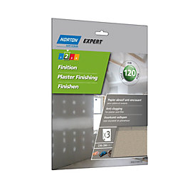 Norton 120 Grit Fine Sandpaper sheet, Pack of